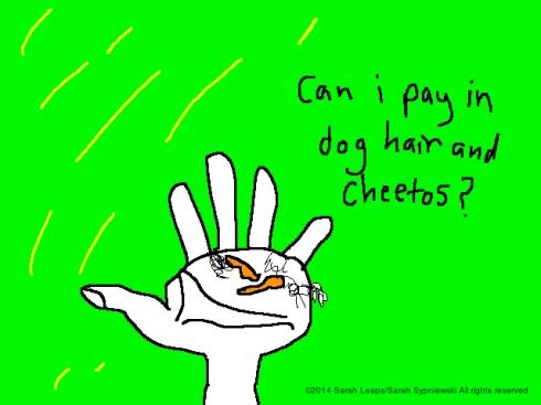 dog hair and cheetos